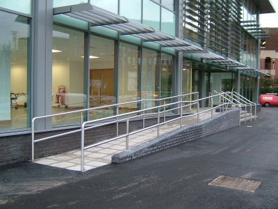 Disabled access at the Square Colchester