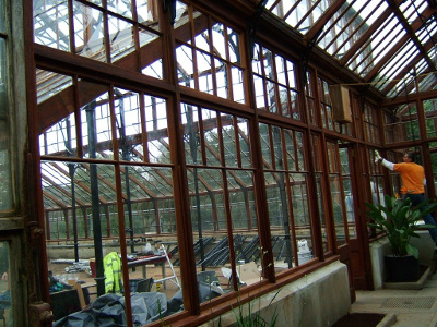 Botanic Gardens Greenhouse, during refurbishment