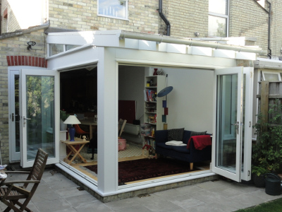 All glass extension